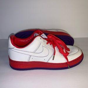 Nike Air Force 1 Supreme I/O 07  White Atom Red